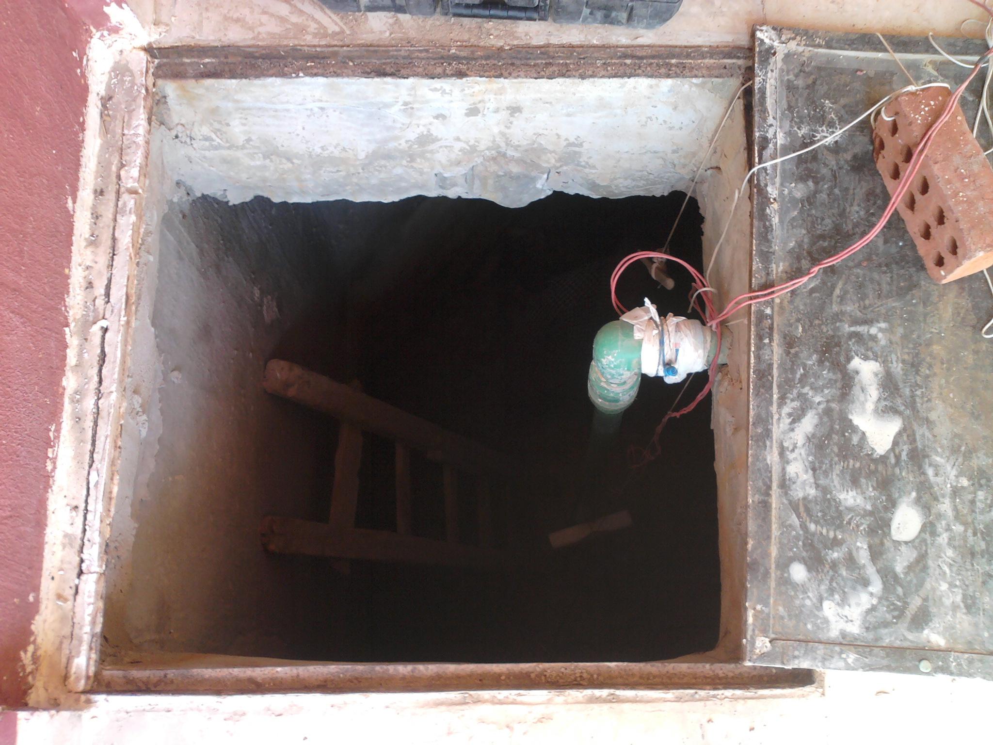 Arbeiten am Wassertank