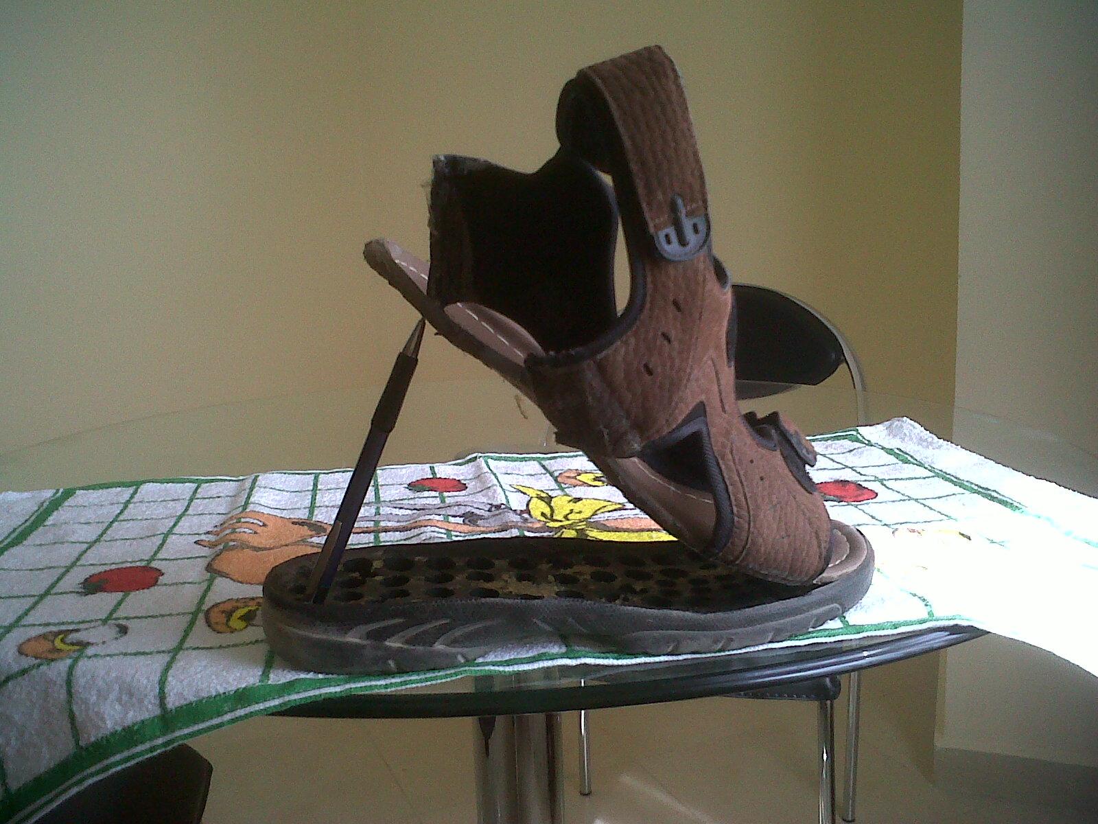 ägyptische Sandalen nach 3 Tagen