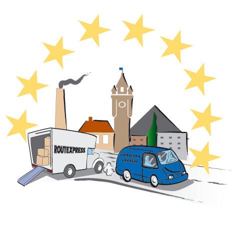 Clip-art pour la carte de visite d'un transporteur