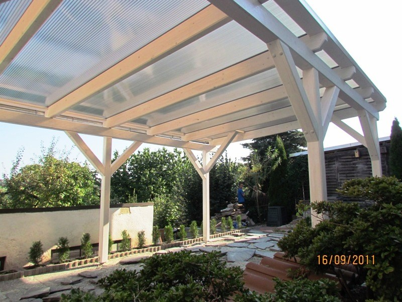 Dach mit Plexiglas