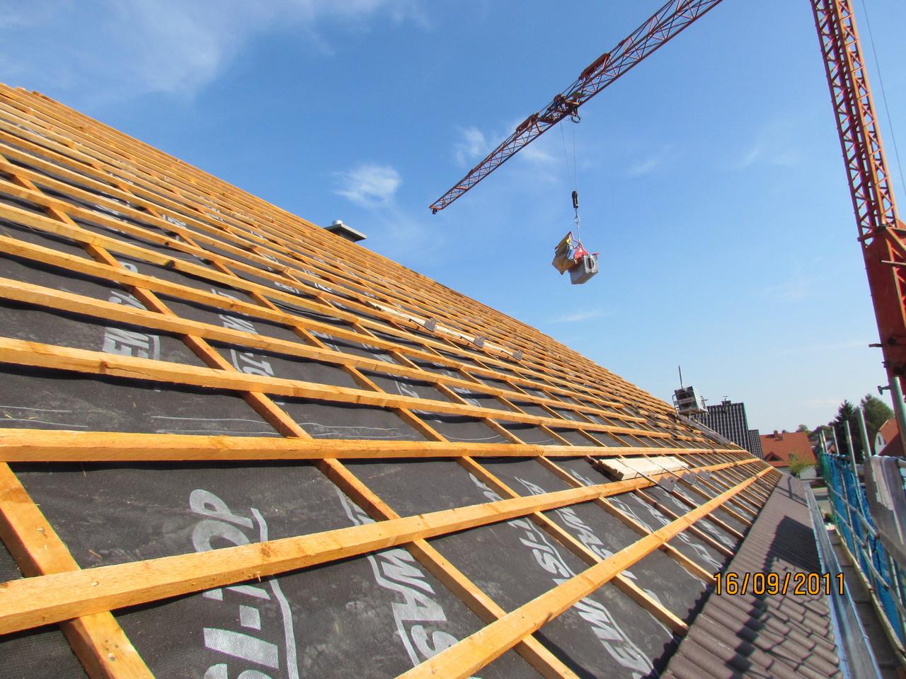 Dacheinlattung für Ziegeldach