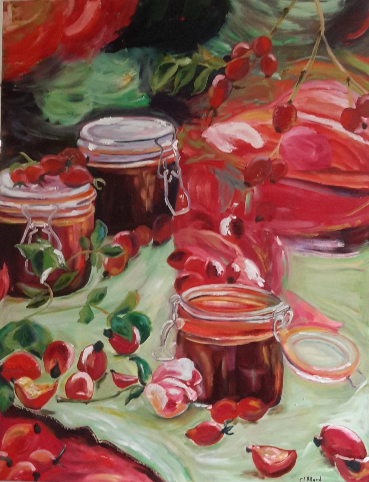 Les confitures, peinture à l'huile