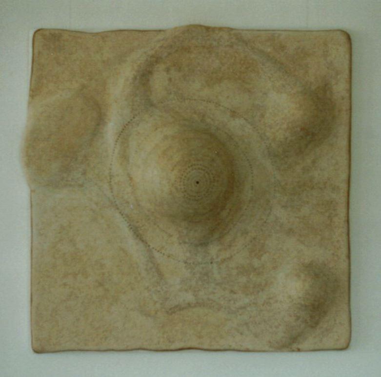 Li-Li-Lee I Pappmaché 100 x 100 cm 1996