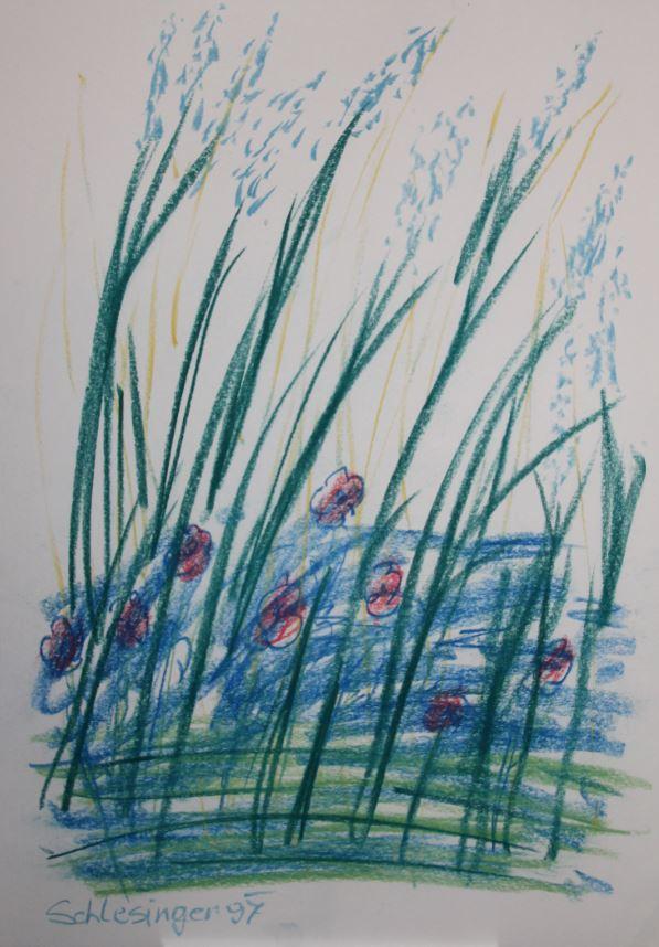 Gil Schlesinger   o.T.   Zeichnung  59,5 x 41,5   1997