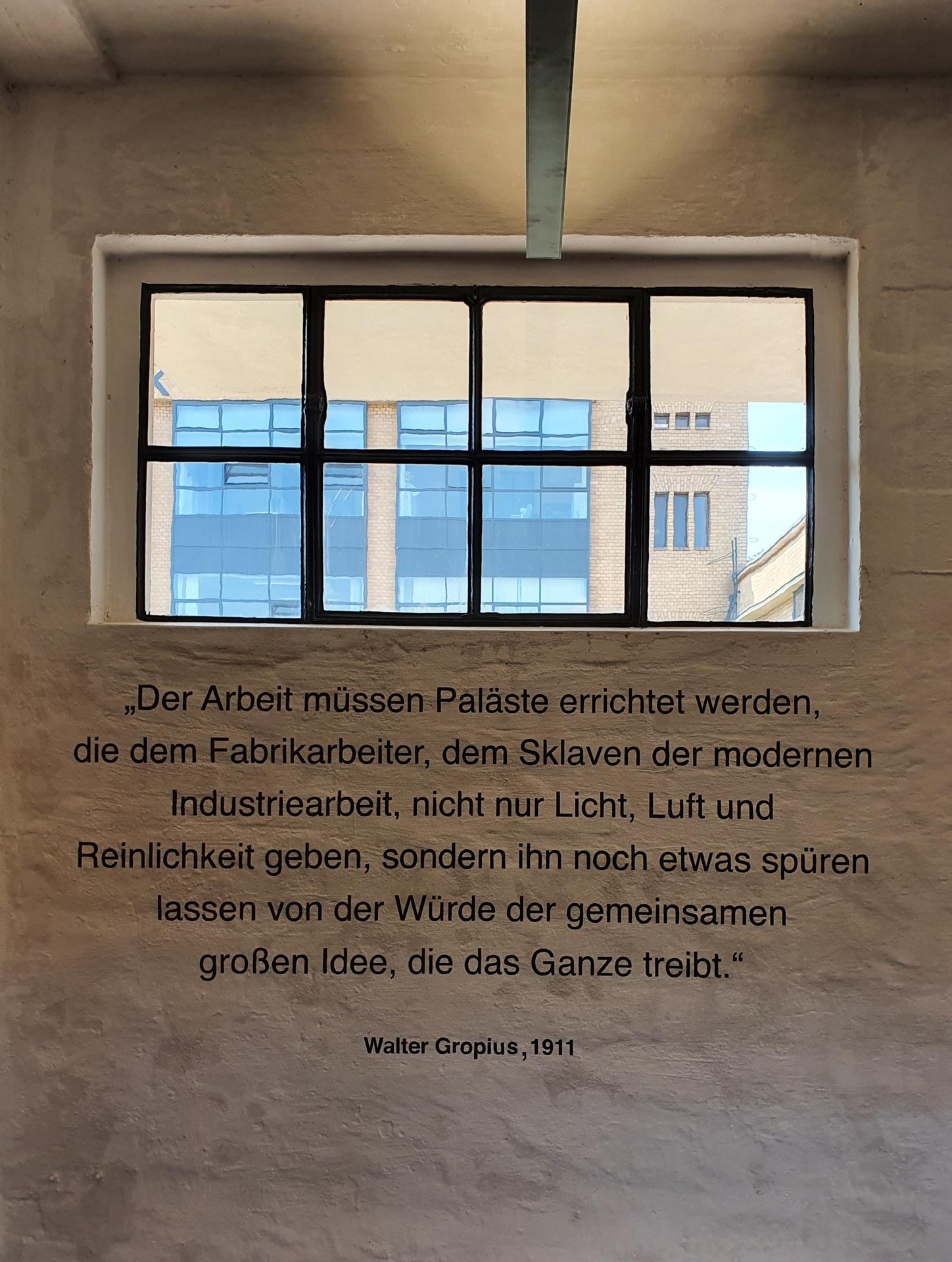 UNESCO Fagus-Werk in Alfeld, Erkenntnis!