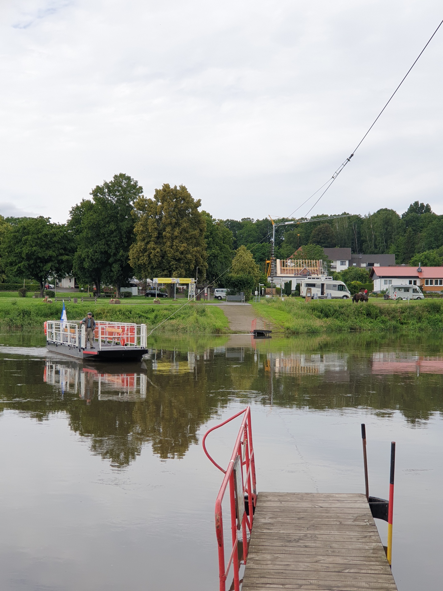 Gierseilfähre über die Weser (bei Bad Karlshafen)