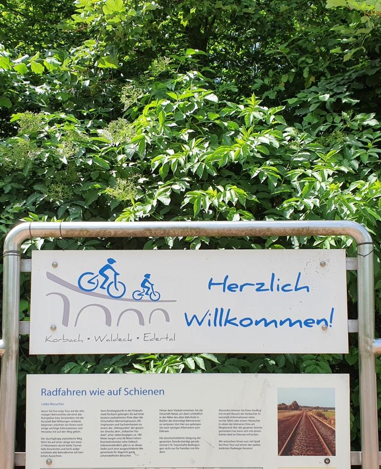 Info zum Ederseebahn Radweg