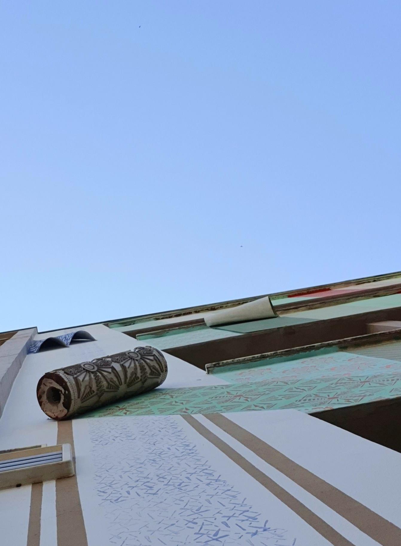 Einbeck, Häuserfassade von Blaudrucktechnik inspiriert