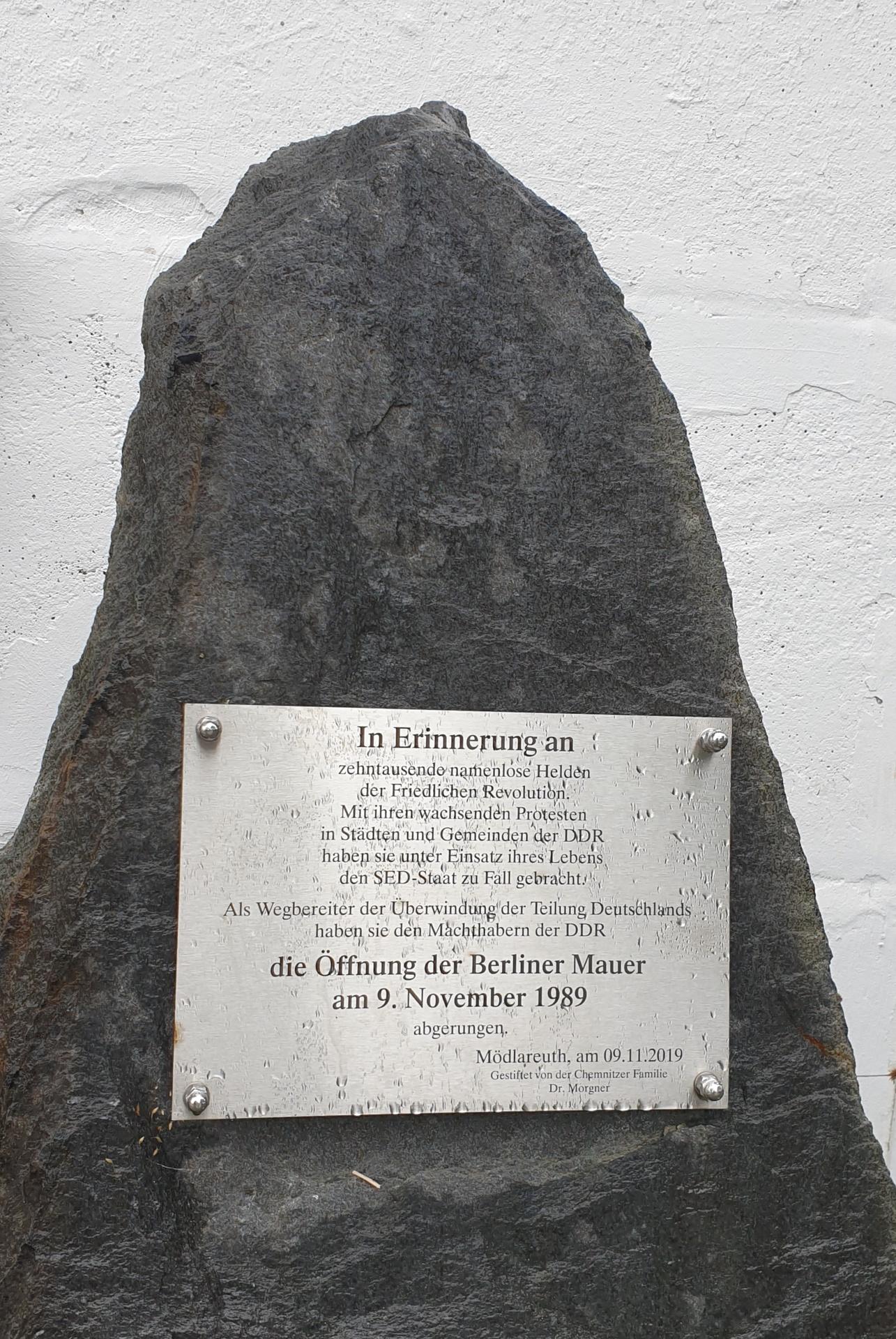 Mödlareuth, Erinnerung an die freidliche Revolutuion