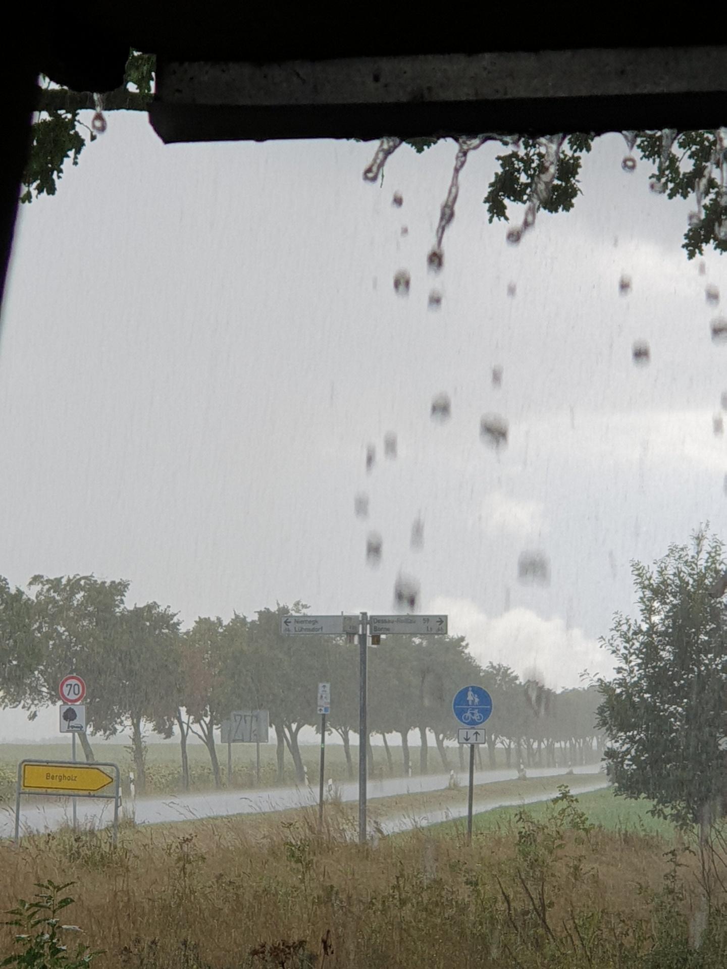Regenfahrt zum Abschluss
