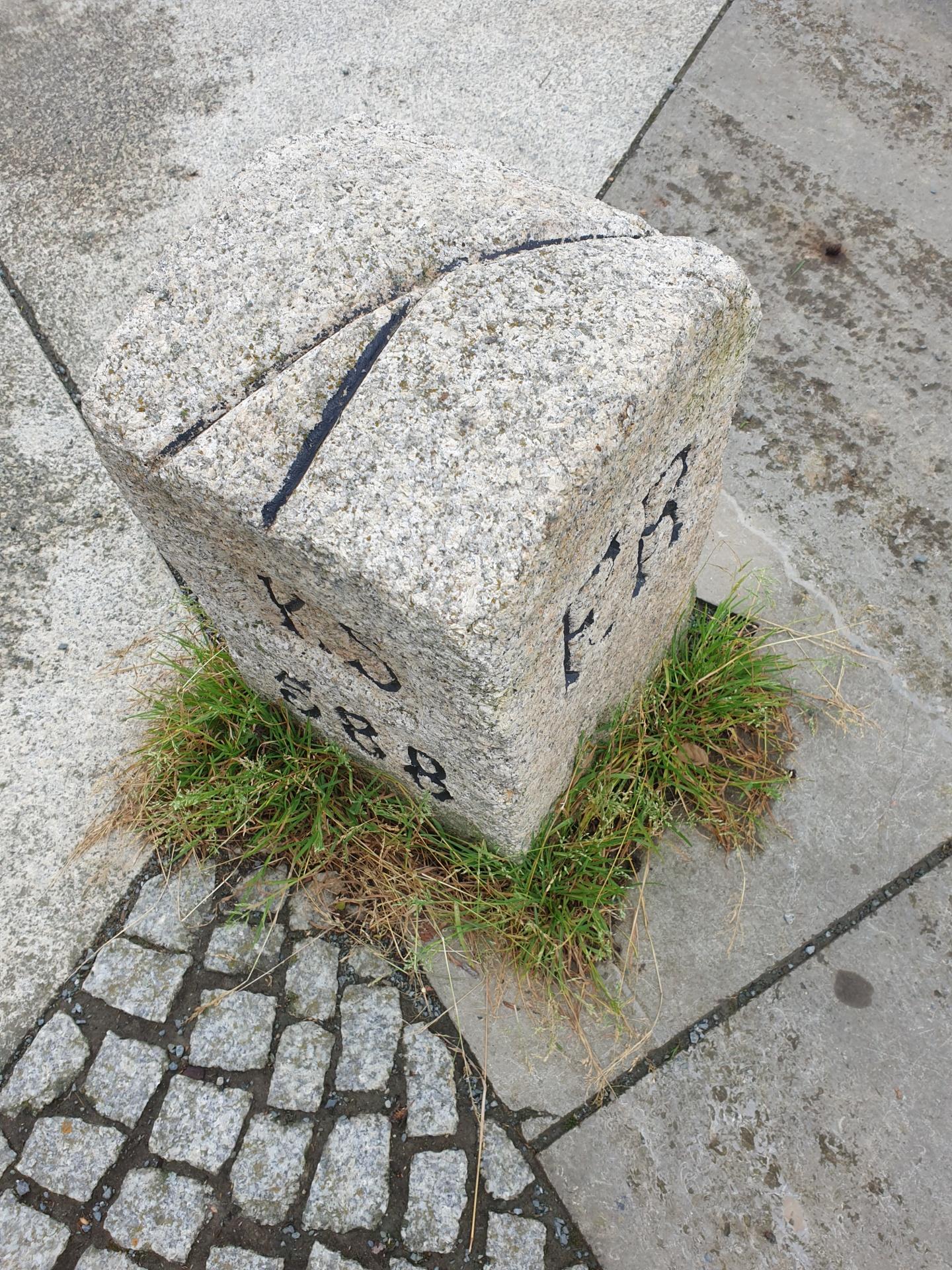 Drei-Freistaaten-Stein, in echt