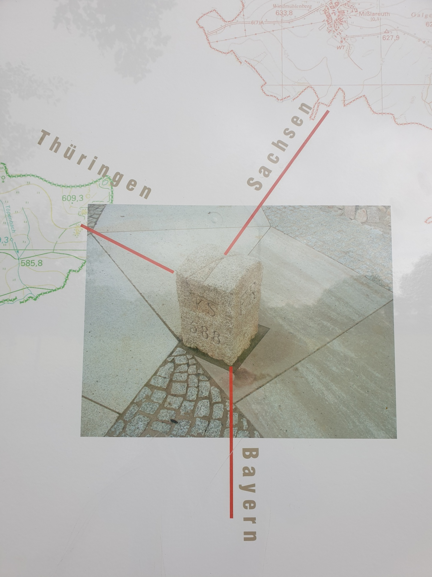 Drei-Freistaaten-Stein, Skizze