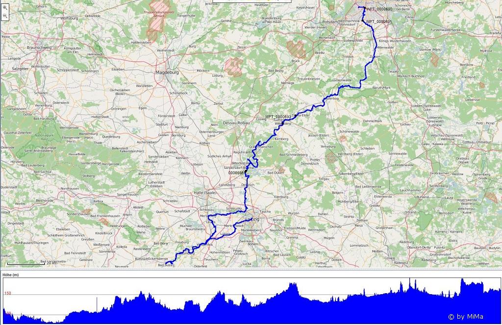 430 km Gesamtstrecke