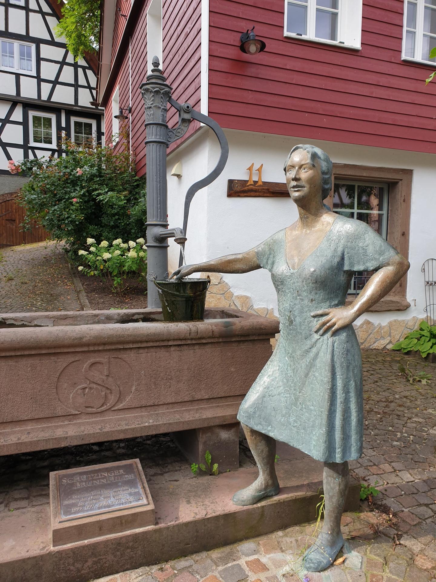 Brunnen-Skulptur