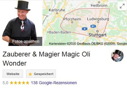 Zauberer, Zauberkünstler und Magier, Magic Oli Wonder zaubert in ganz Stuttgart, Esslingen, Reutlingen, Tübingen