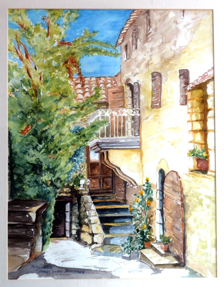 """""""Haus in der Provence"""", Aquarell, 31 * 41 cm, Privatbesitz"""