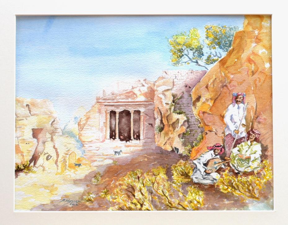 """""""Petra-Jordanien"""", Aquarell, 38 * 29 cm / Petra in Jordan"""