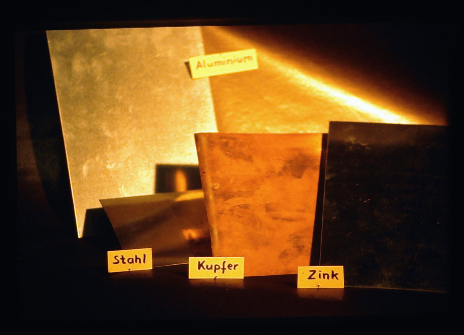 Die Metalle für den Druckstock