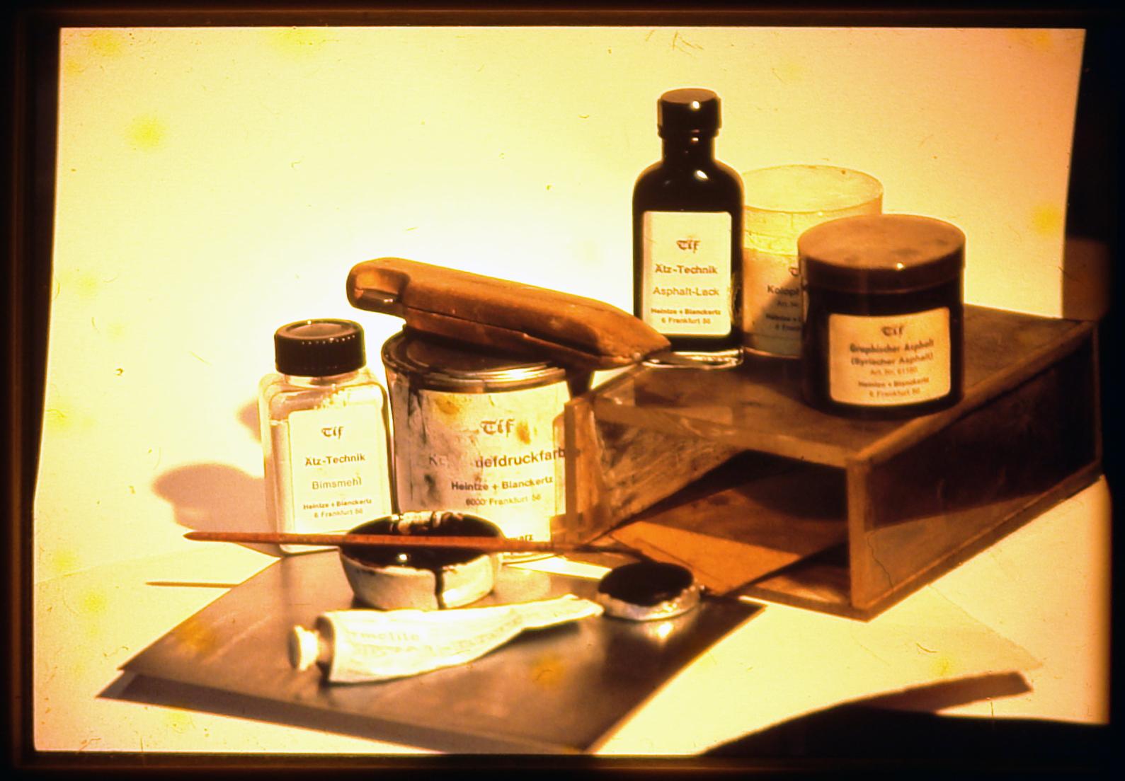 Materials for Aquatint