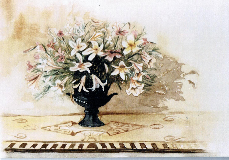"""""""Lilien"""", Aquarell, 32 * 27 cm / Lilies"""