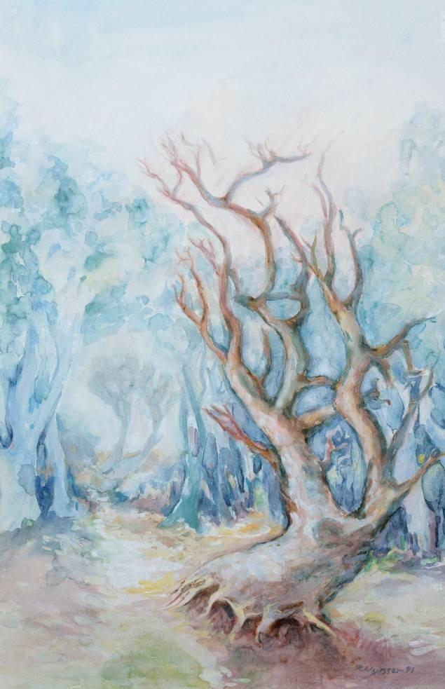 """Landschaft"", Aquarell, 35 * 55 cm"