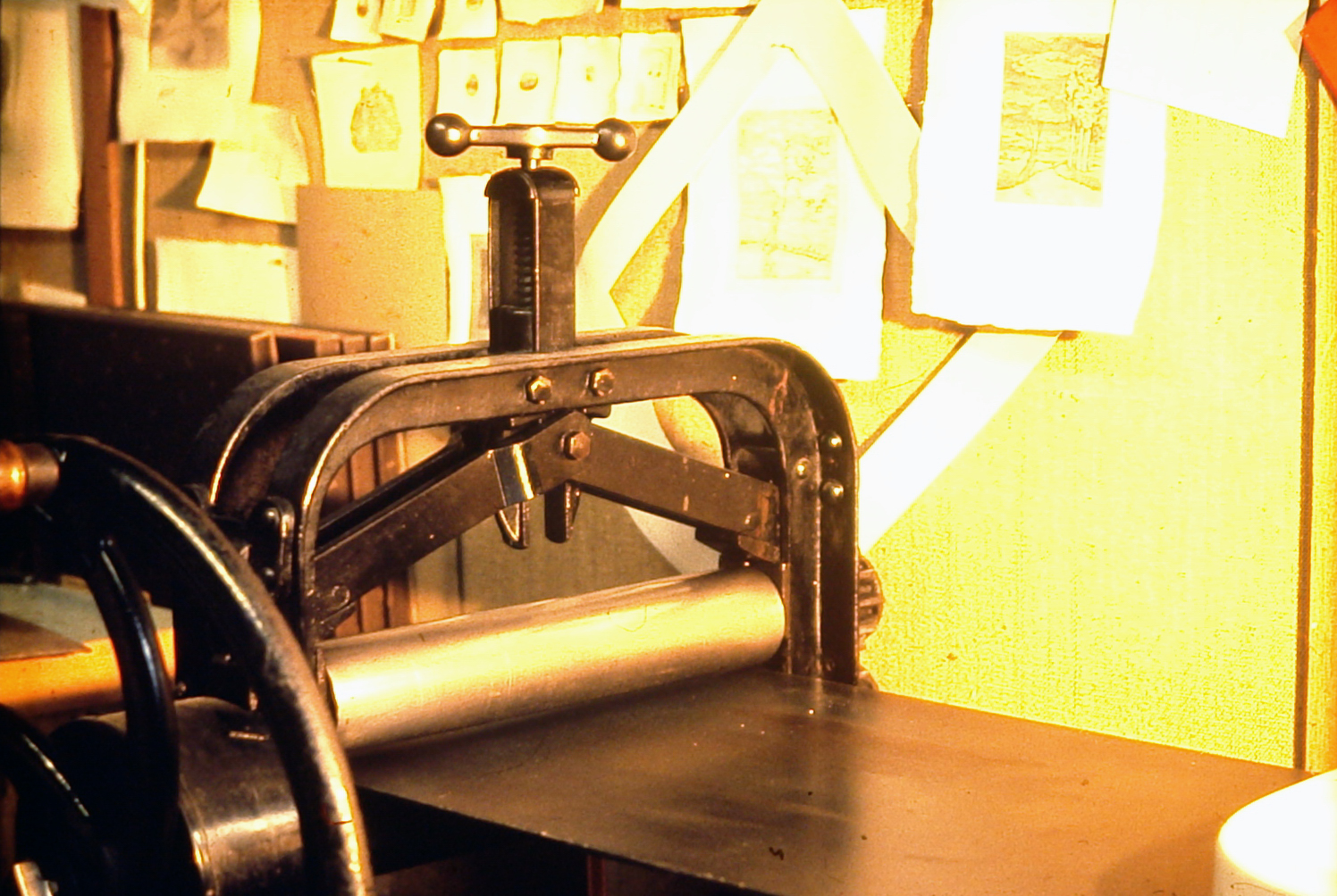 Hand printing press