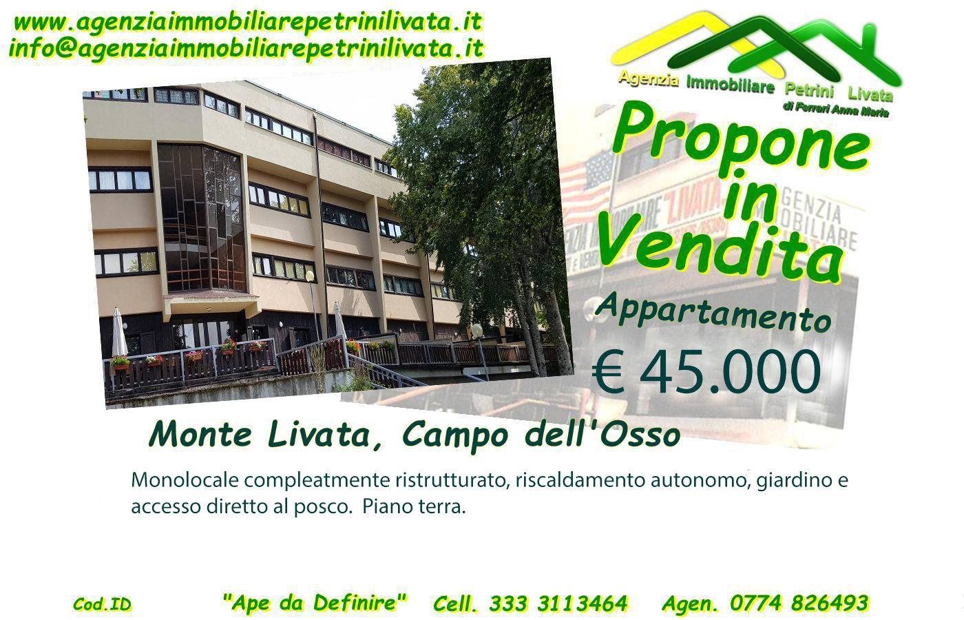 App.to Campo dell'Osso 35 mq (Cod.Id 294)