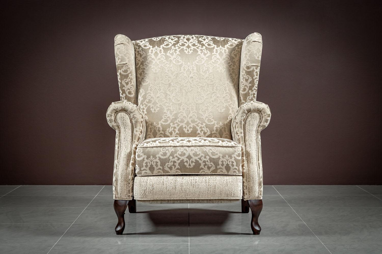 Кресло реклайнер Рафаэль (Bellissimo caramel ornament,Bellissimo caramel plain)