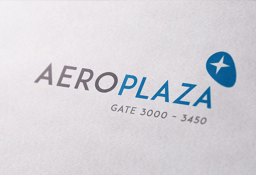 "Logo ""Aeroplaza Eindhoven"", UNION INVESTMENT REAL ESTATE GmbH, Entwurf 3"