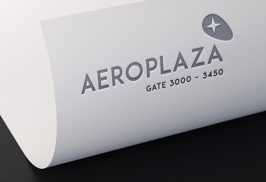 "Logo ""Aeroplaza Eindhoven"", UNION INVESTMENT REAL ESTATE GmbH, Entwurf 3"