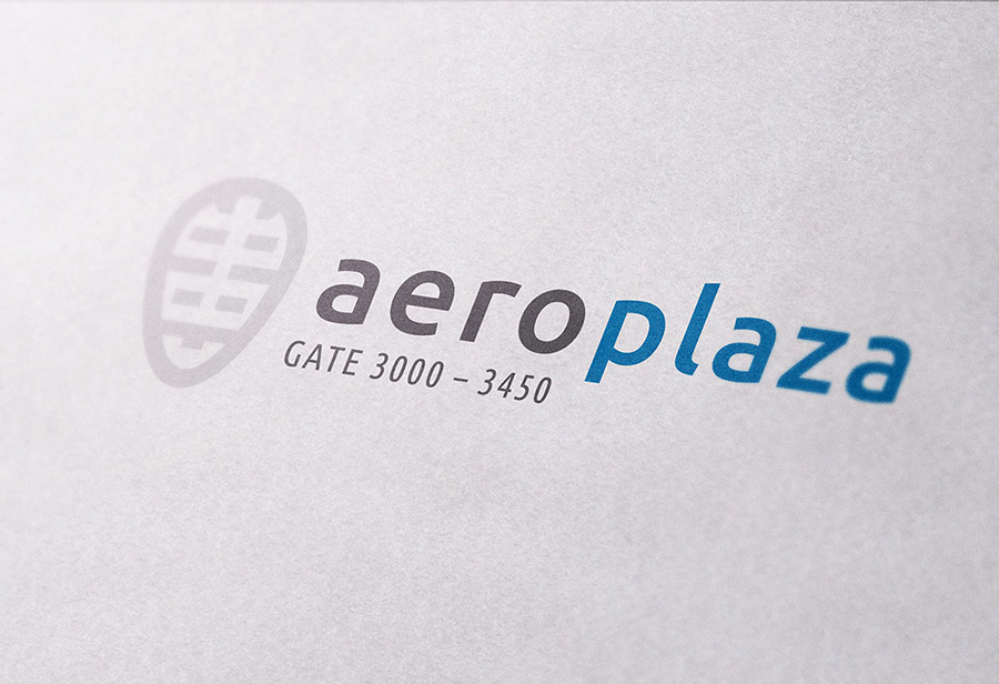 "Logo ""Aeroplaza Eindhoven"", UNION INVESTMENT REAL ESTATE GmbH, Entwurf 1"