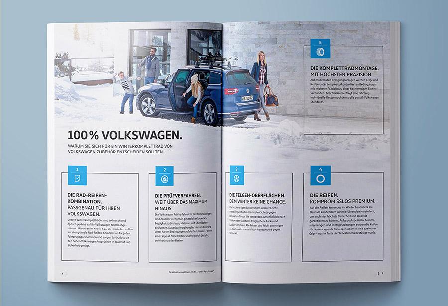 """Winterkomplettrad-Katalog 2017/2018, VW ZUBEHÖR, """"100% Volkswagen."""""""