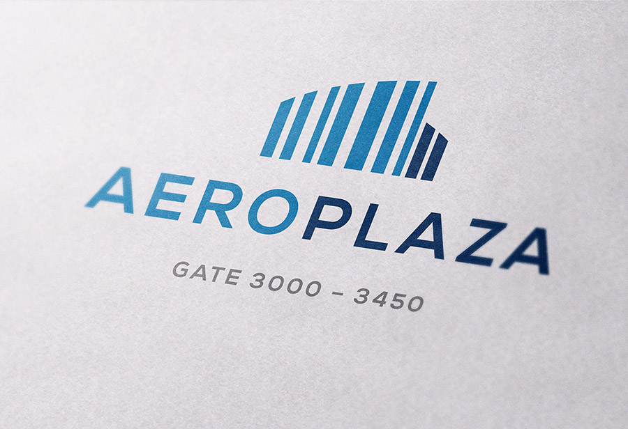 "Logo ""Aeroplaza Eindhoven"", UNION INVESTMENT REAL ESTATE GmbH, Entwurf 2"