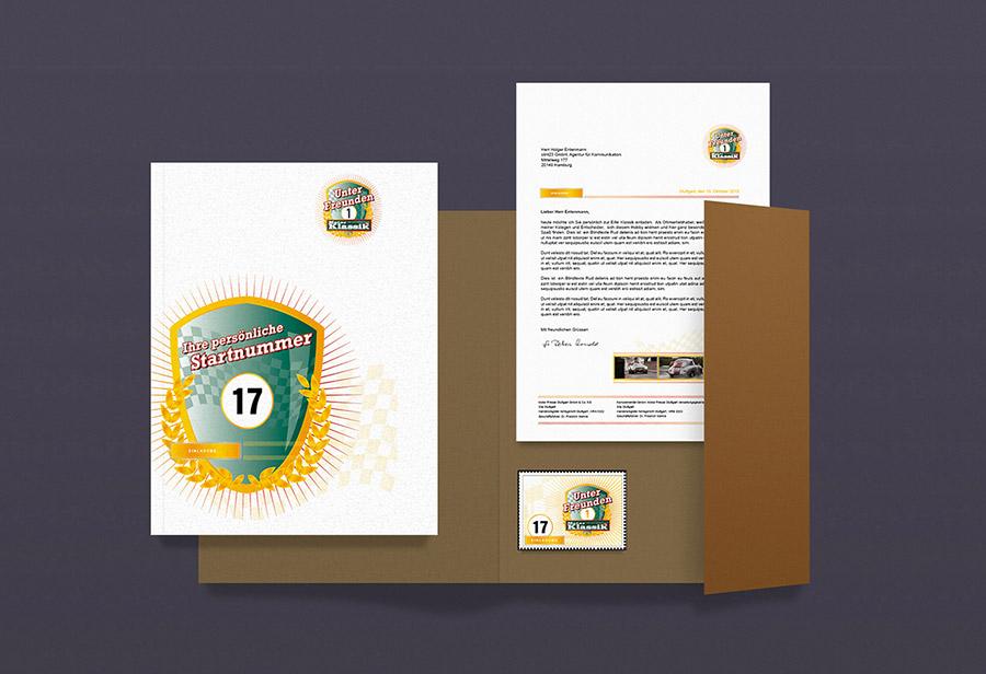 CRM Mailing, Einladung, Teilnahmeunterlagen, Aufkleber