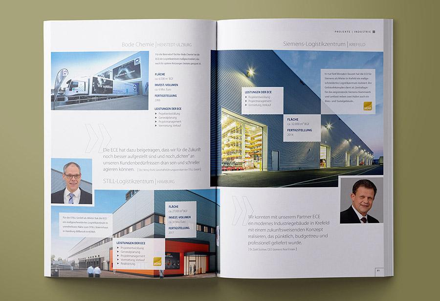 "ECE Imagebroschüre ""OTI"" 2017, ""Projekte | Industrie"""