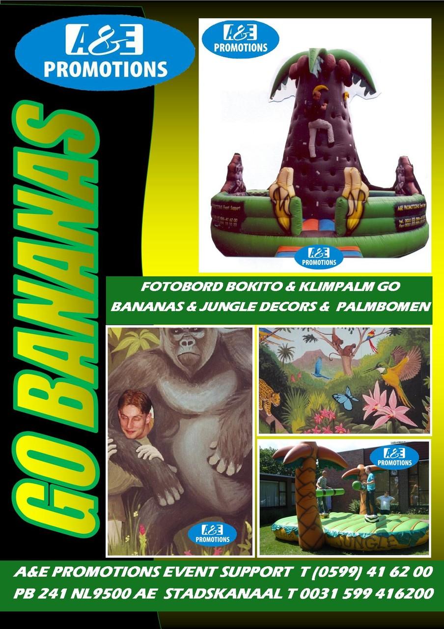 GO BANANAS VOORDEELPAKKET (BANANEN KLIMATTRACTIE GO BANANAS, FOTOWAND BOKITO ETC.)
