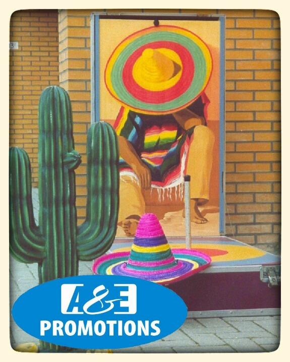 SOMBRERO WERPSPEL  EUR 55,00 MEXICO PARTY ARTIKELEN VERHUUR - SOMBRERO ZIELWERFSPIEL GESCHICKLICHHEITSSPIEL FÜR JEDES ALTER
