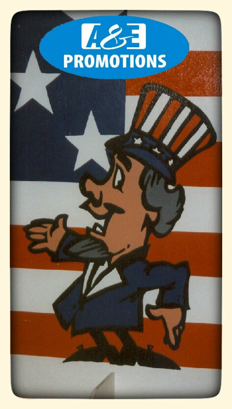 UNCLE SAM WELKOMSTDECOR (2X1 M.) EUR 55,00 - UNCLE SAM DEKOWAND  (2X1M.) EUR 55,00