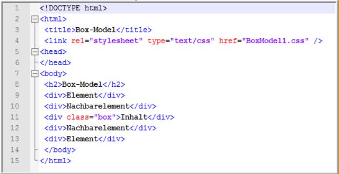Box Model Webtechnologien Com