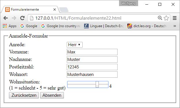 Formular Elemente 2 Webtechnologien Com