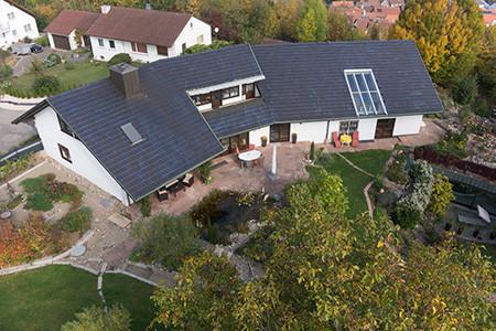 Luftbildaufnahme Immobilie, Rutesheim, Stuttgart und Umgebung