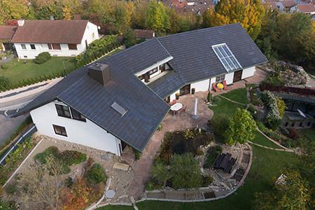 Luftbild Privatimmobilie, Rutesheim, Stuttgart und Umgebung