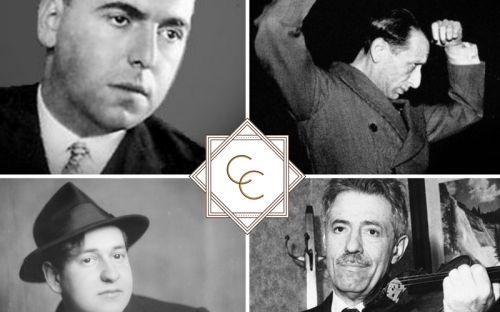 v. li.o. Erwin Schulhoff, Alexandre Tansman, Erich W. Korngold, Fritz Kreisler