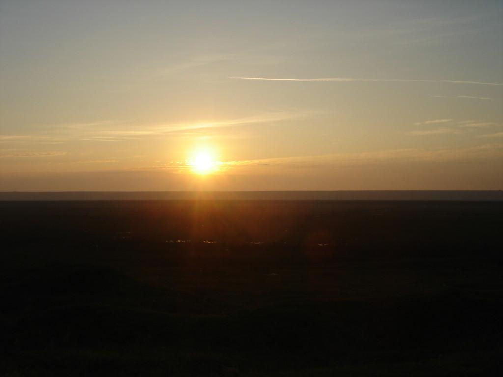 Sonnenuntergang auf dem Lande
