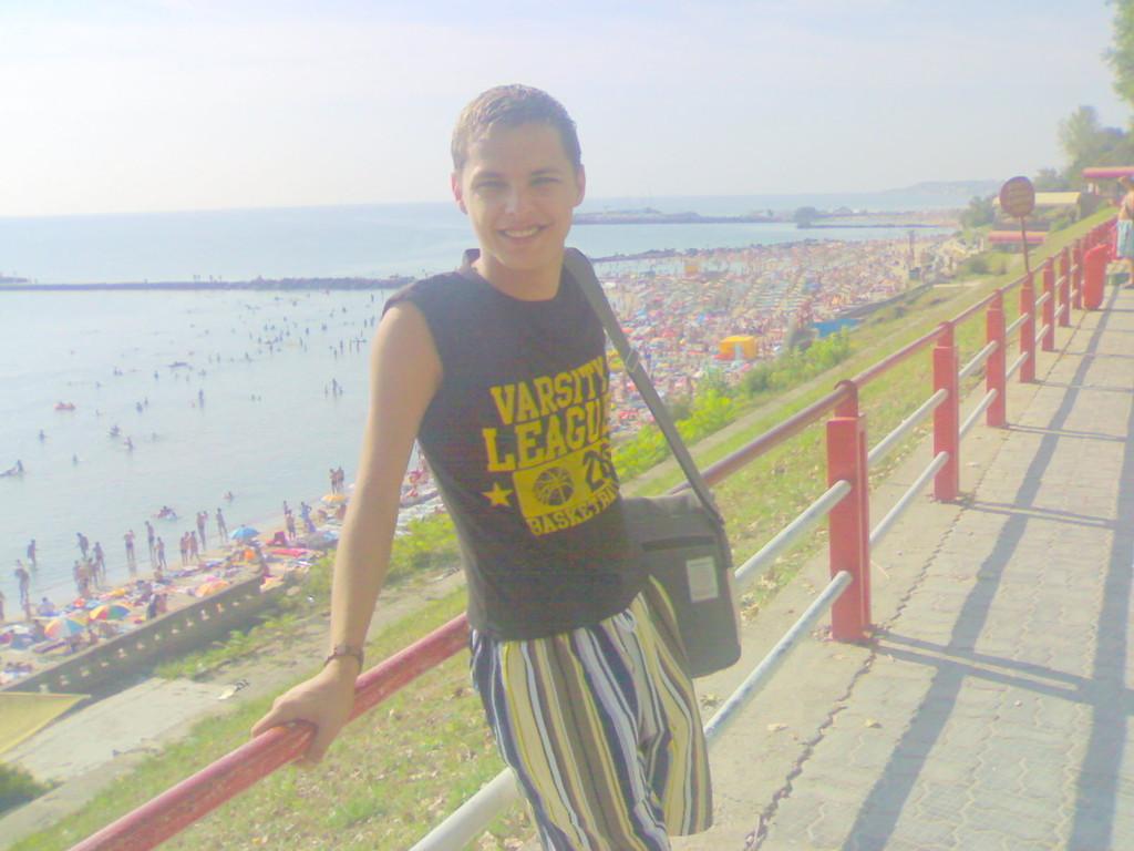 Urlaub mit Rumänien Boy