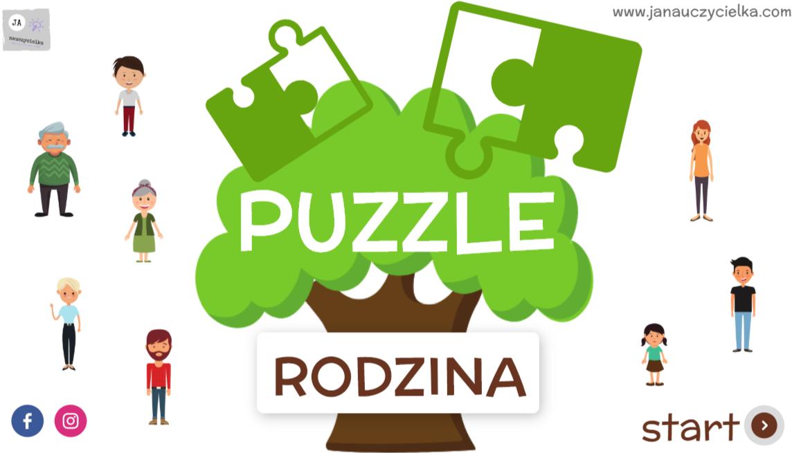 Babcia i dziadek (puzzle interaktywne)