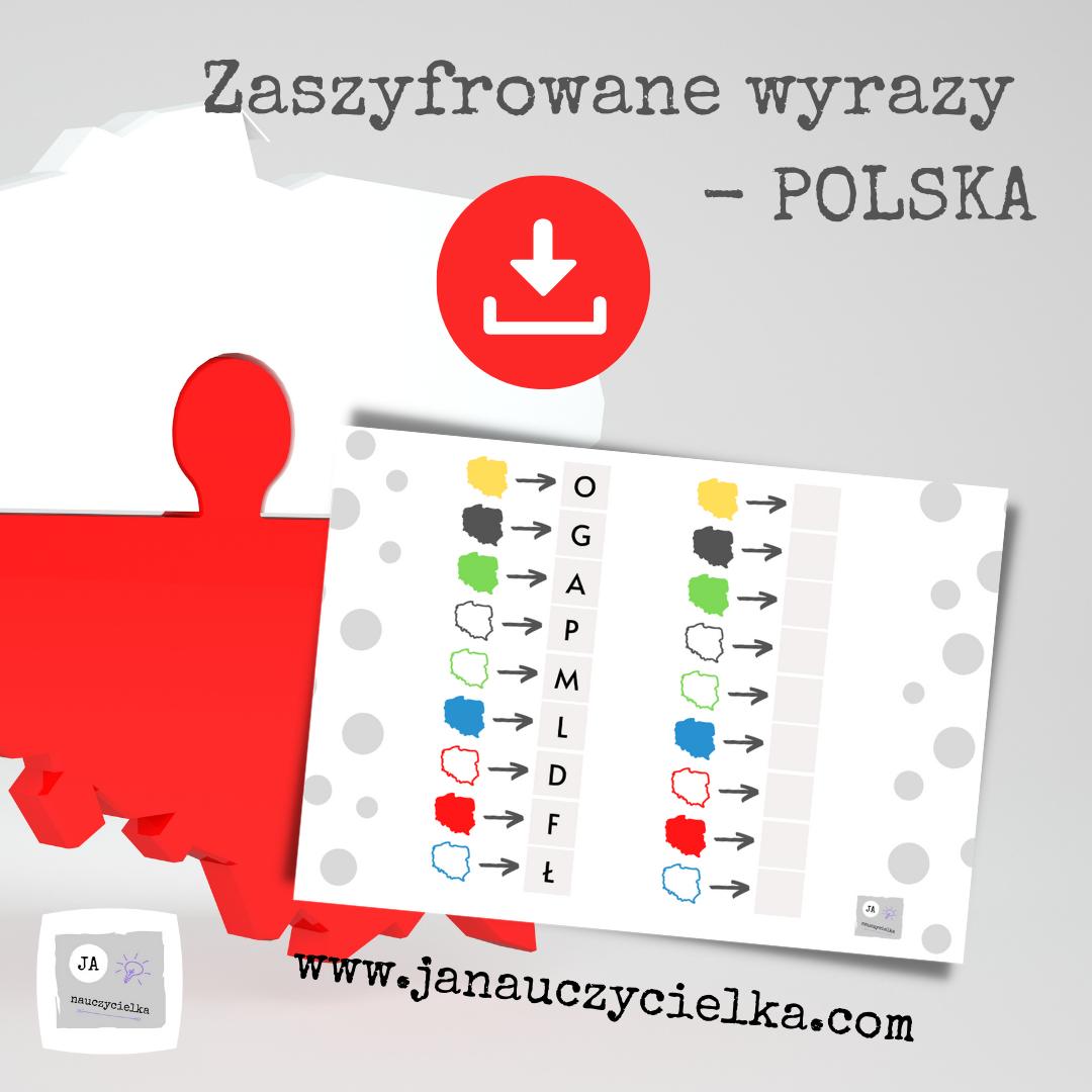 Zaszyfrowane wyrazy - POLSKA