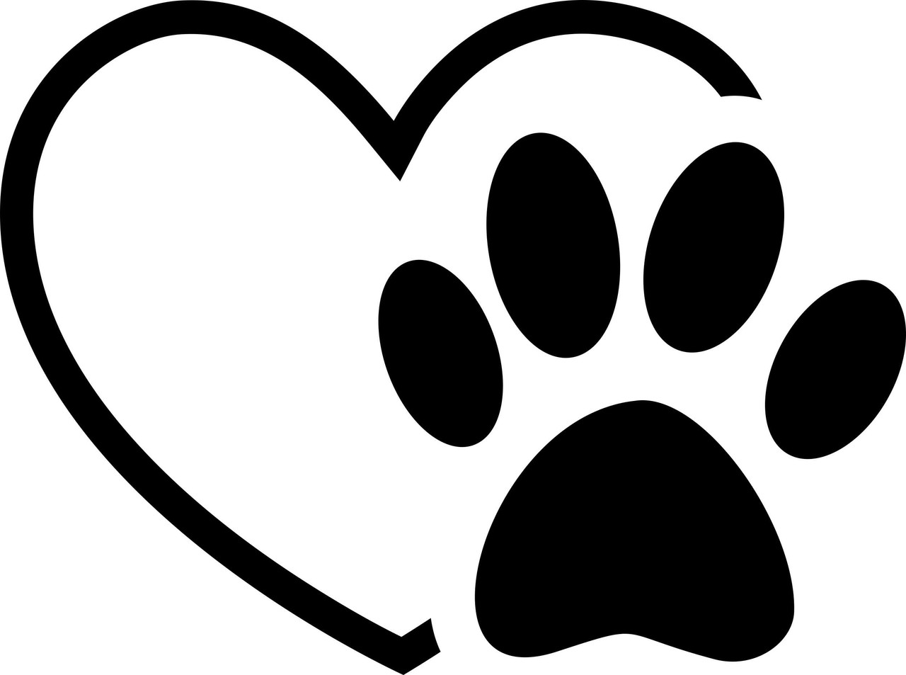 Cartoon Picture Of Dog Paw Print