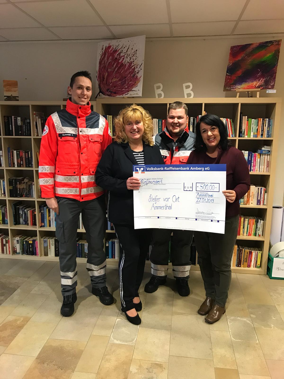 Spendenübergabe Gemeinde Ammerthal