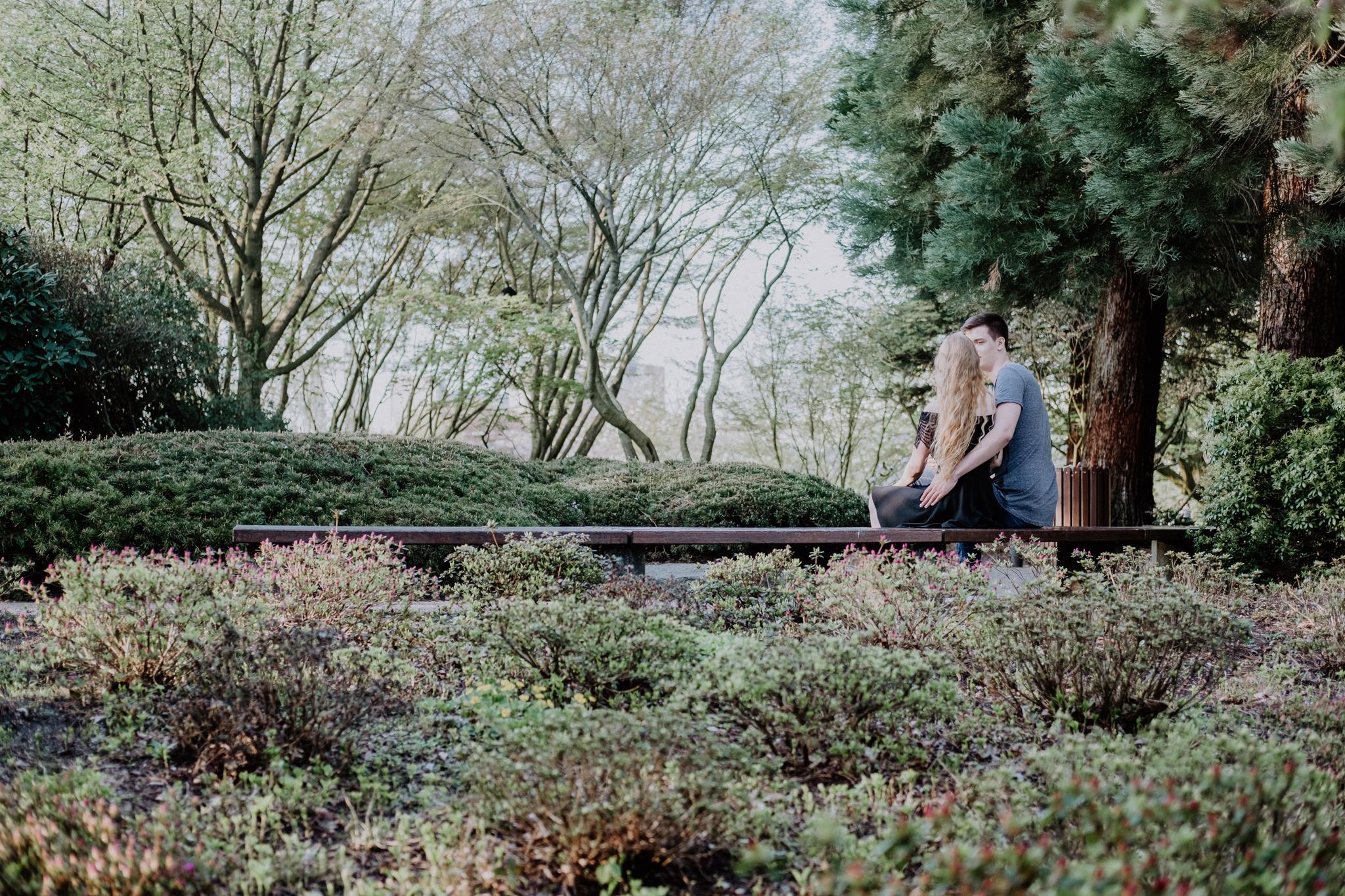 Paar im Garten von Planten un Blomen
